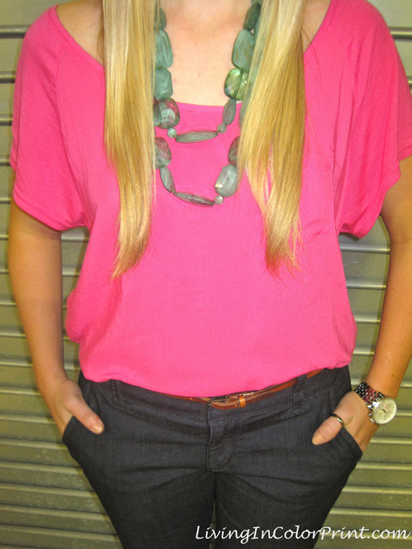 It Girl Expo Hot Pink Turquoise Necklace