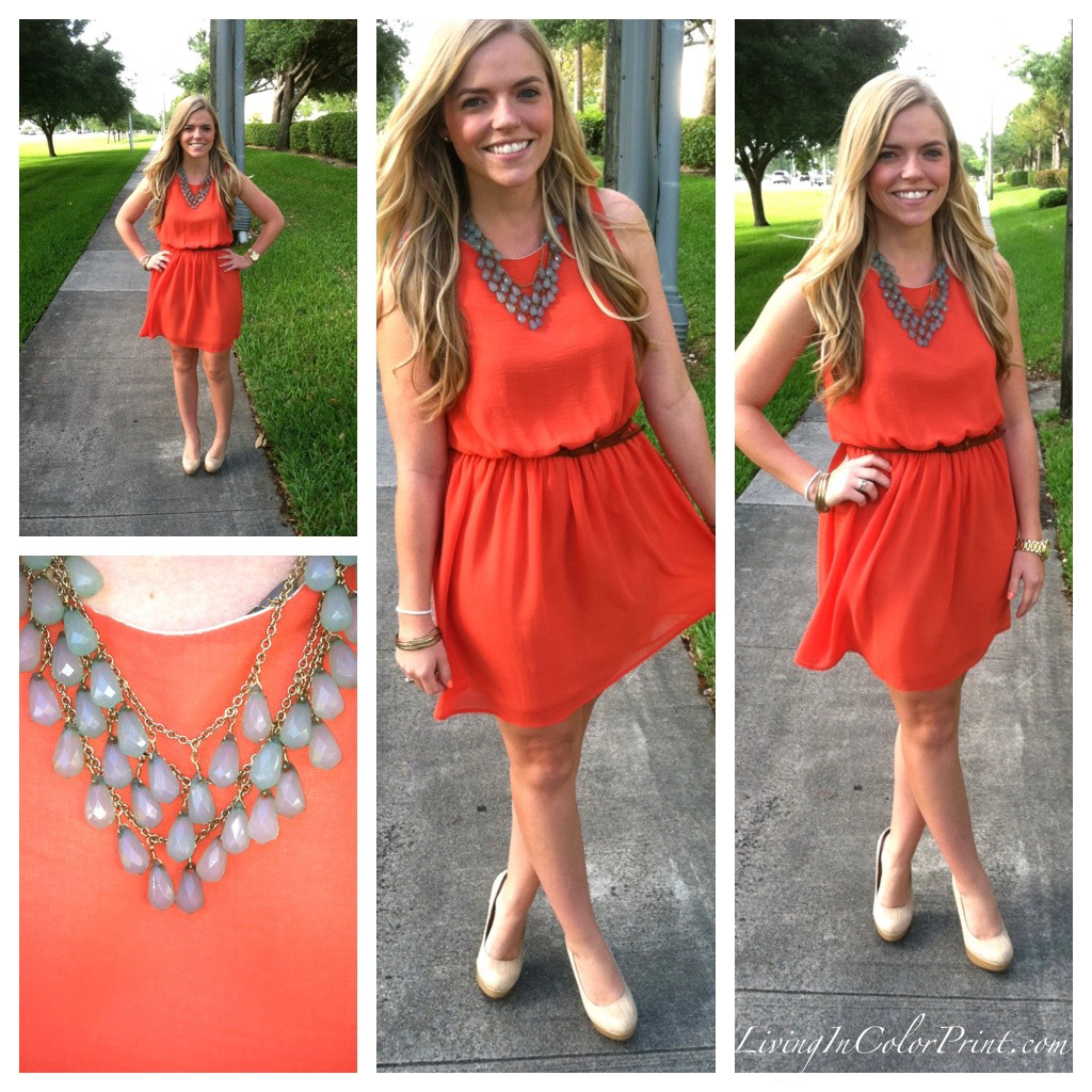 Kristin Clark Peach Dress