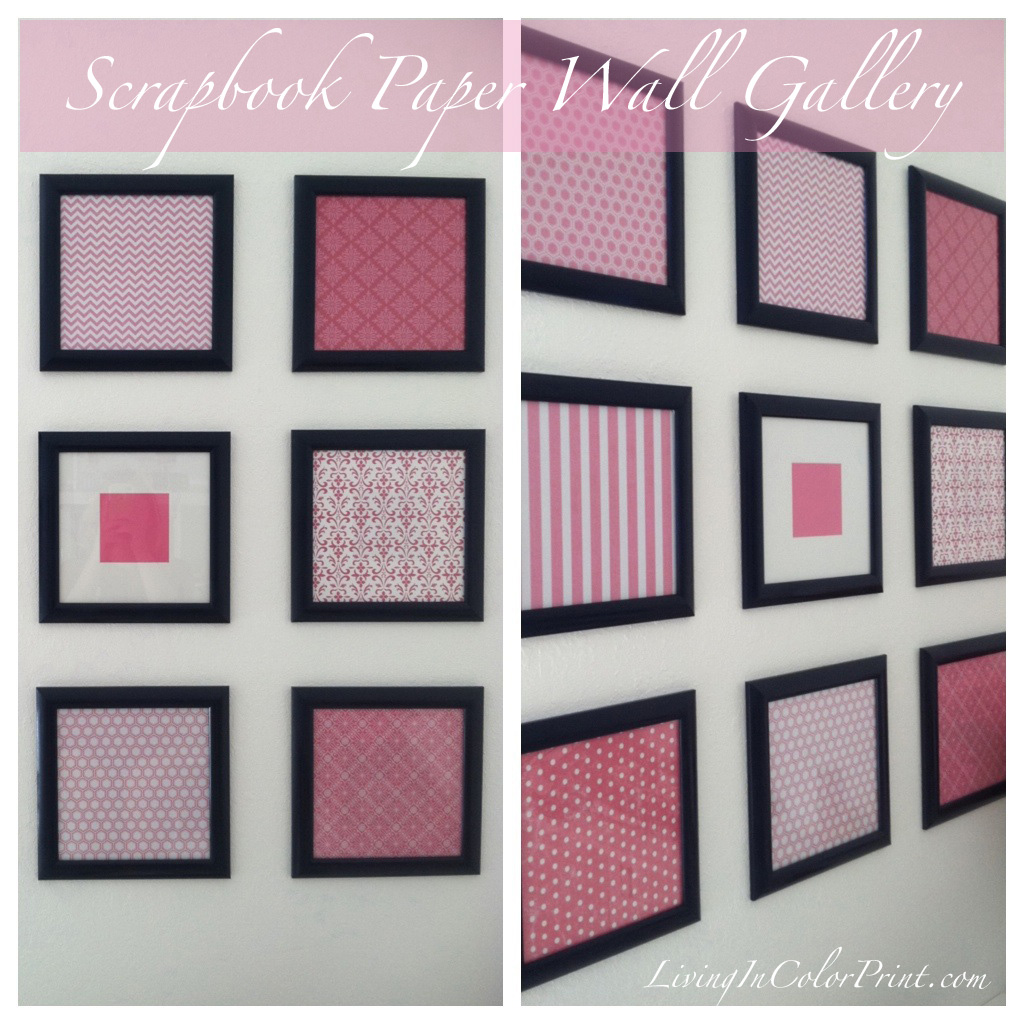 Scrapbook Paper Framed Wall Gallery