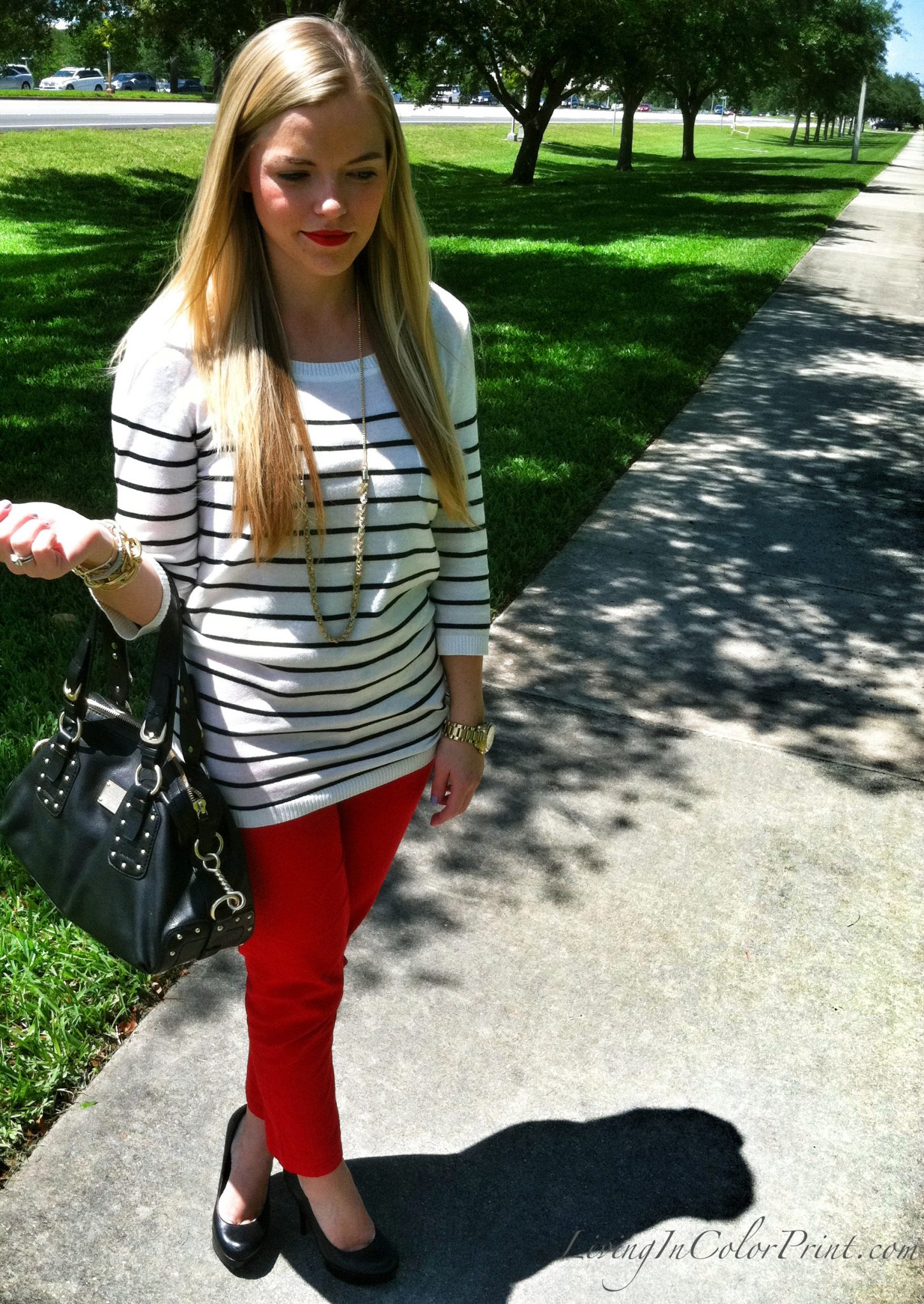 Red Pants and Strips