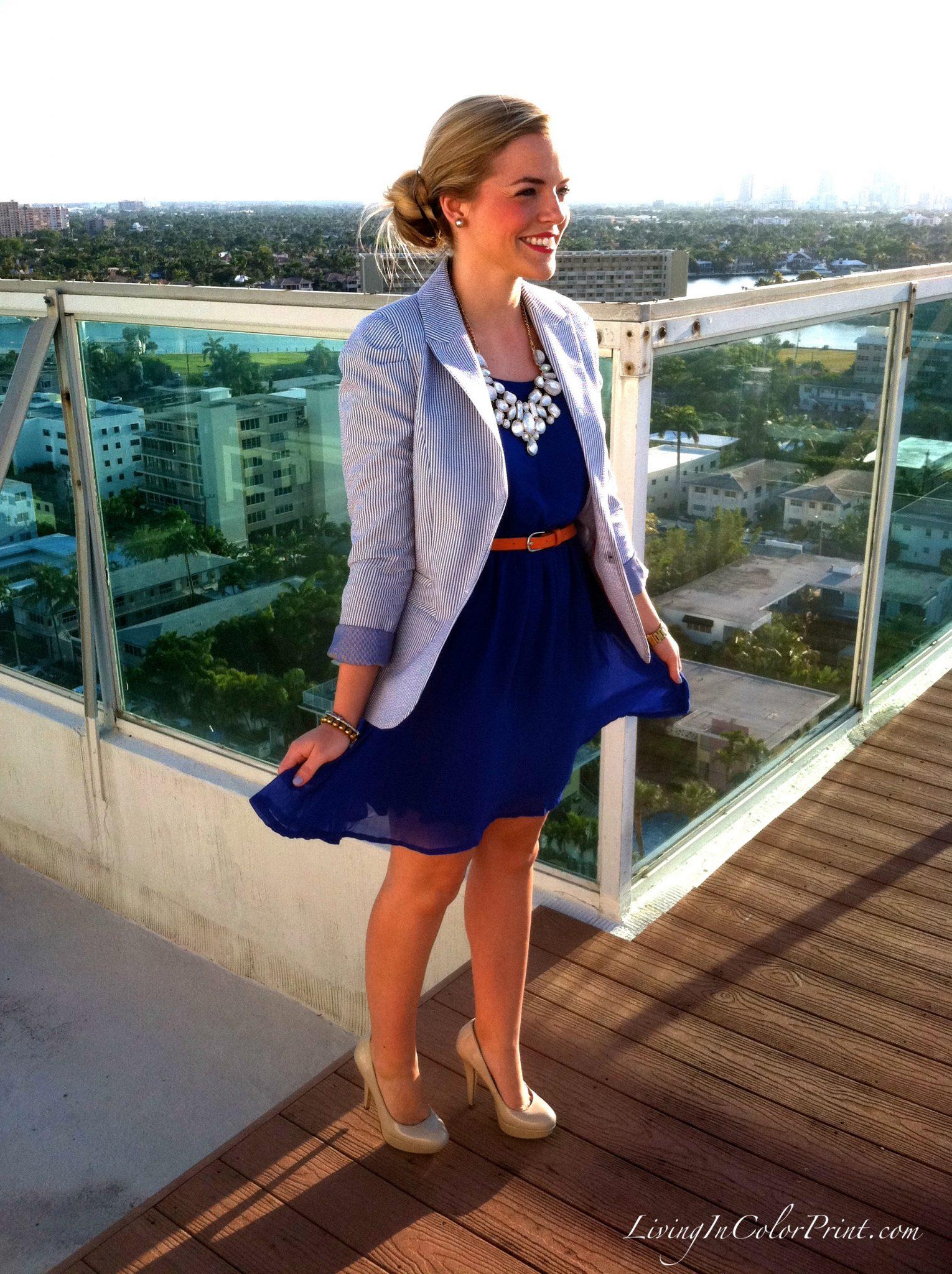 Cobalt Blue Rooftop Bliss