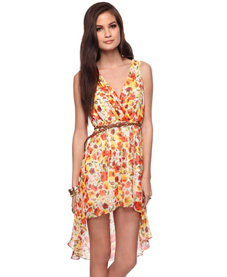 Forever 21 Floral Poppy High-Low Dress