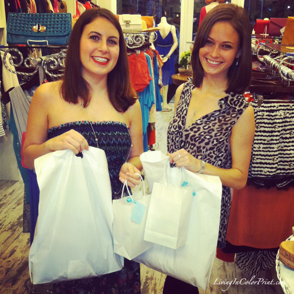 Etiquette Boutique Shoppers at Sip and Style Soiree