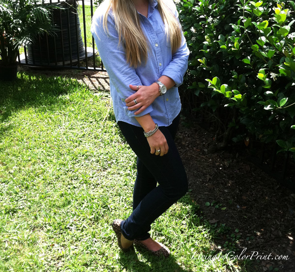 denim on denim blogger outfit