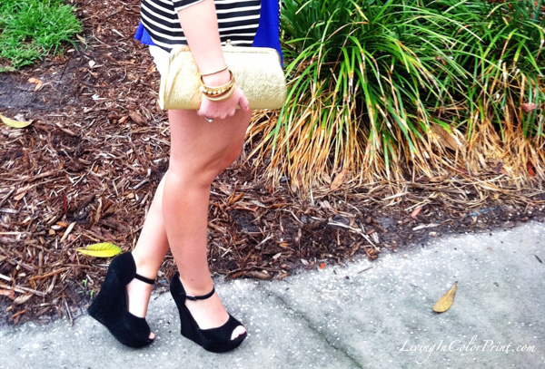 Girls night out ootd, black wedges
