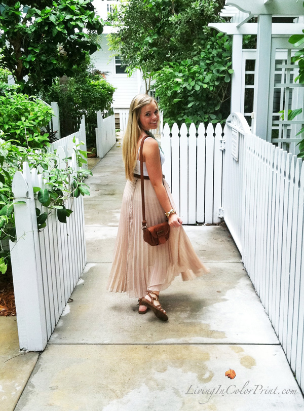 maxi skirt by day, blogger outfit of the day