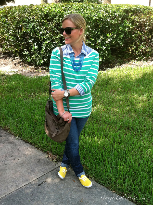 Summer blogger outfit, mint shirt