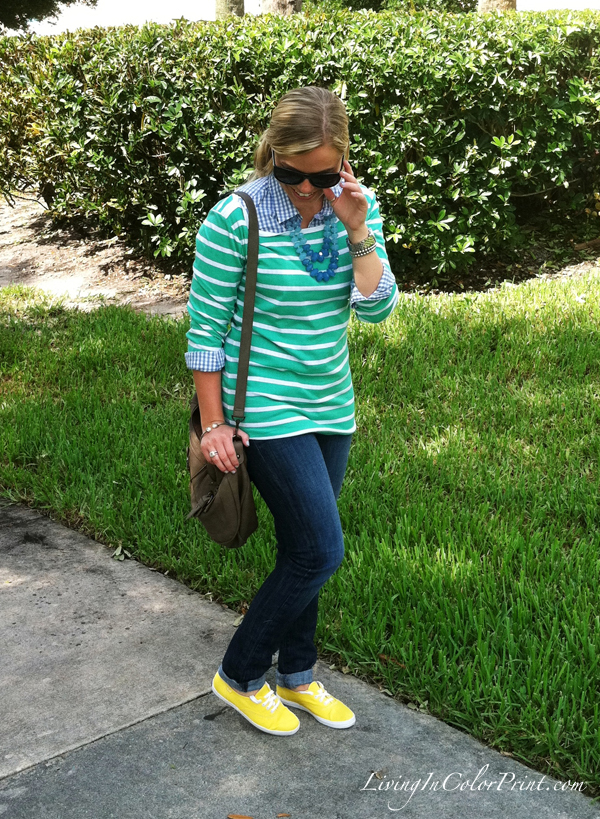 Summer trends, mint shirt