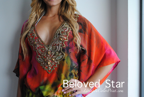beloved star embellished tunic, cover up, MBSwim week 2013