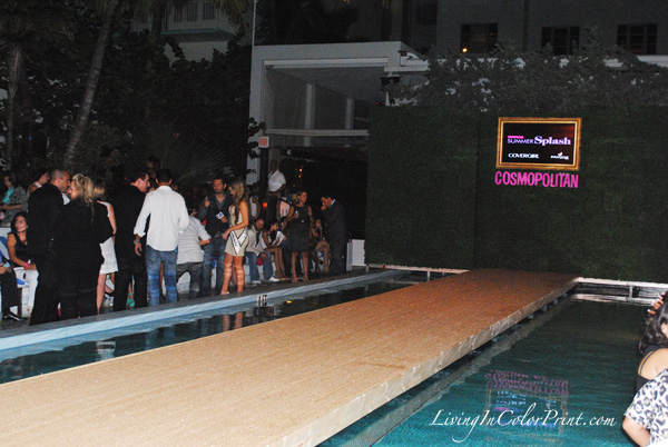 Runway show at soho beach house