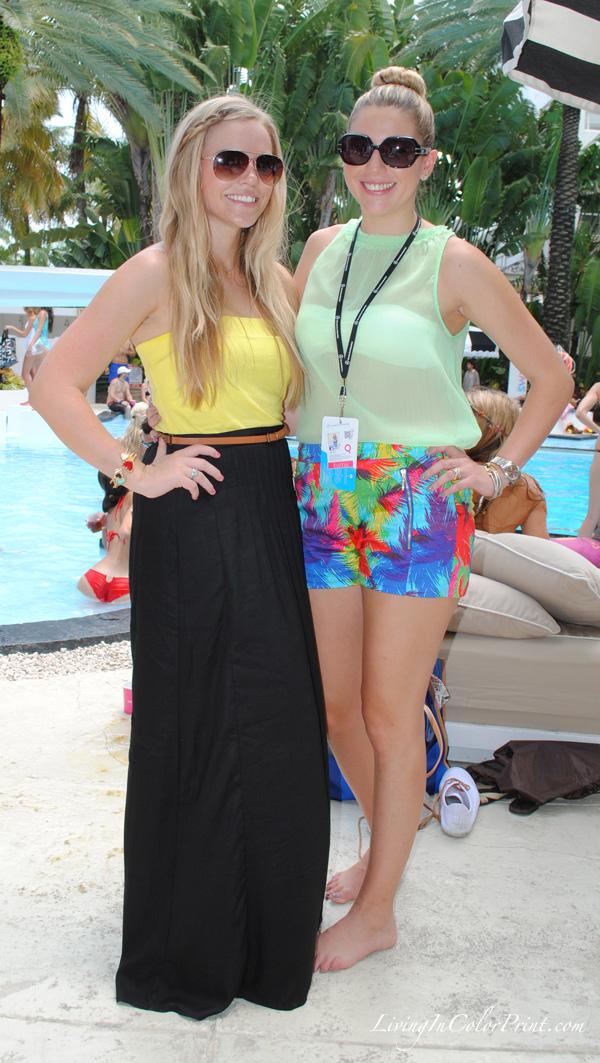 Miami fashion bloggers at MBFW Swim Week Miami, black maxi