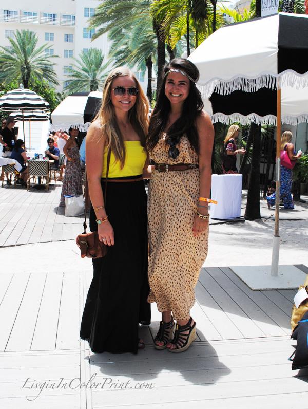 fashion bloggers Kristin and Kendall at MBSwim Miami 2013, miami fashion scene