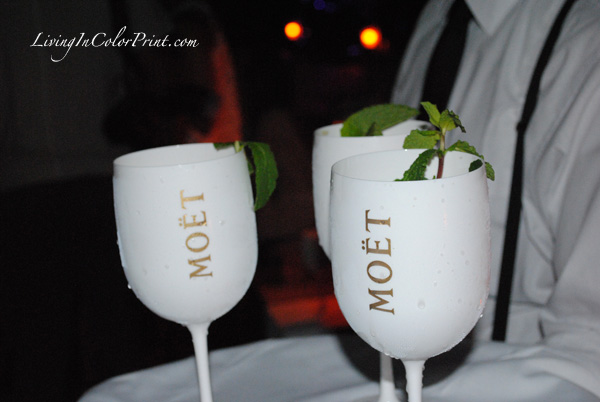 Moet drinks at the soho beach house, style saves 1 year anniversary