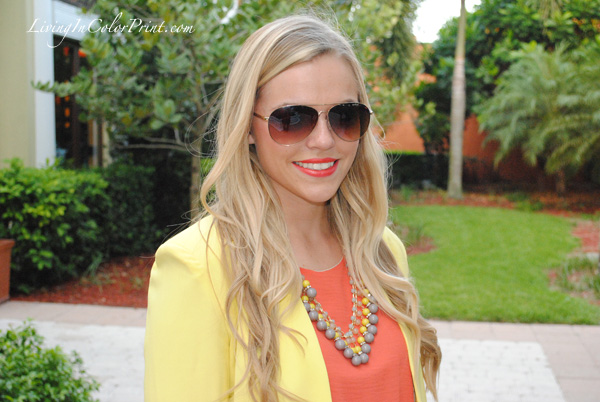 miami fashion blogger, sunburst necklace, j crew necklace