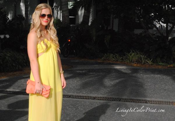 yellow chiffon maxi dress from tutu boutique