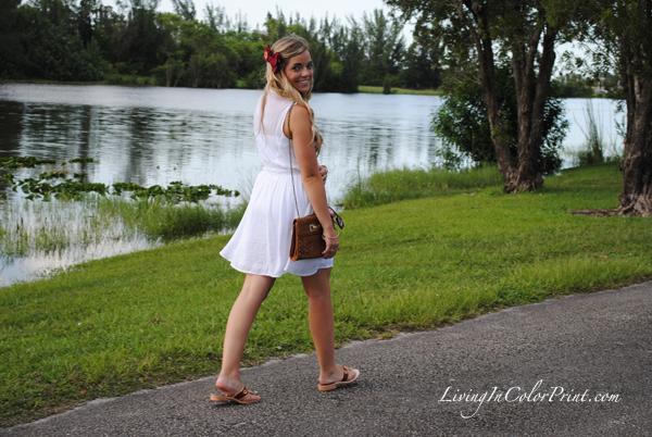 Garnet Bow, white sundress