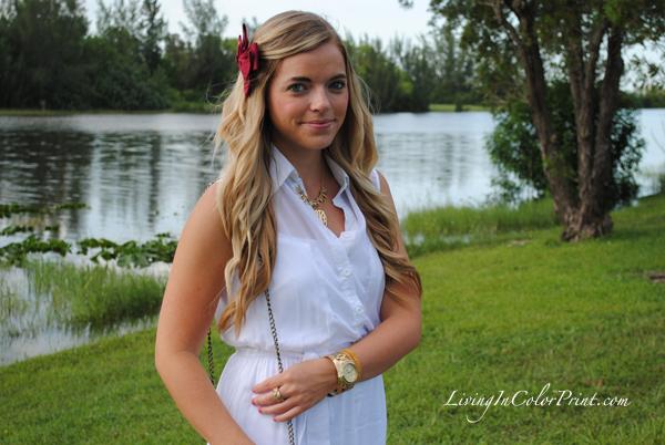 Garnet and Gold Hair Bow, FSU blogger series