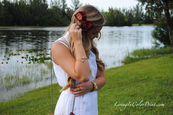gameday fashion, florida state fashion, garnet bow