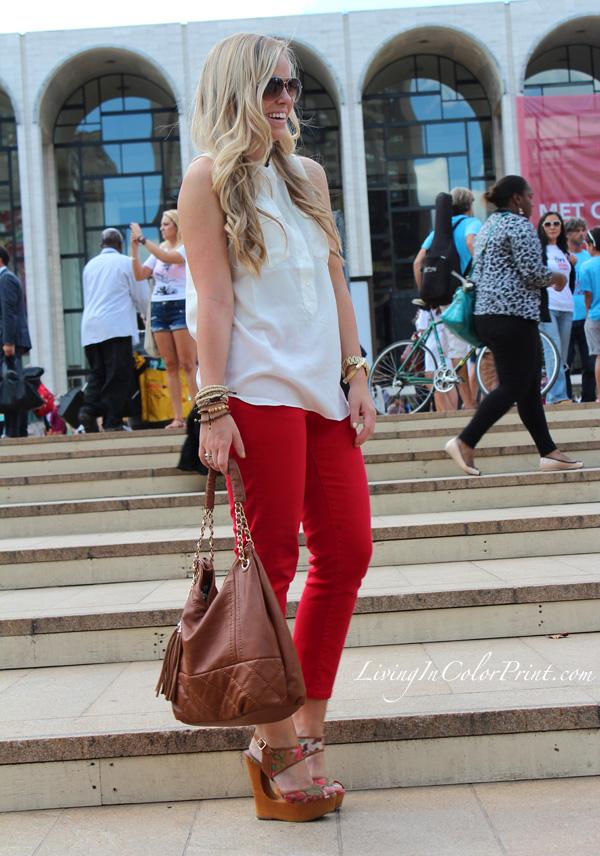 Kristin Clark, blogger at Lincoln Center NYFW