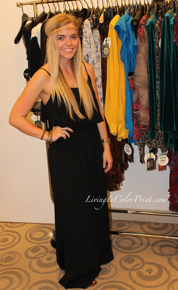 Karen Kane maxi dress, Kristin Clark at Nicole Richie for Macy's preview party