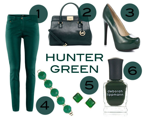 Hunter Green loving, fall 2012 trends, dark green collections