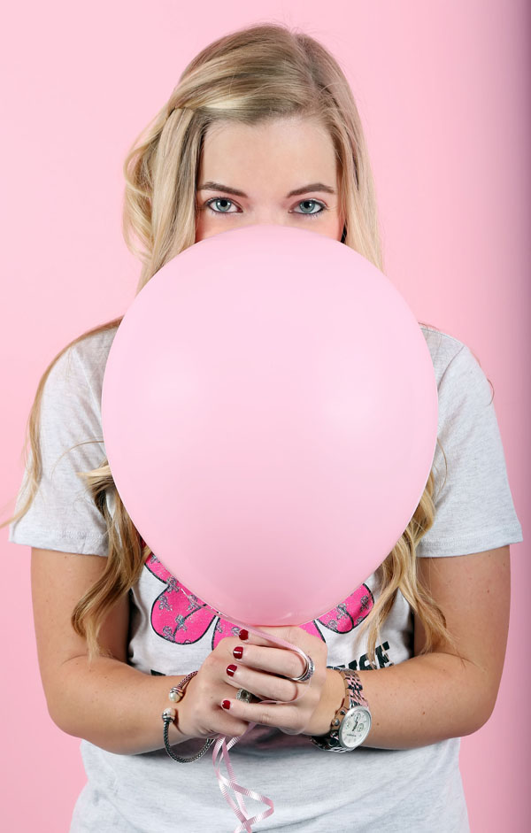 Fashion for a Cause with Kristin Clark, pink ballon, breast cancer awareness