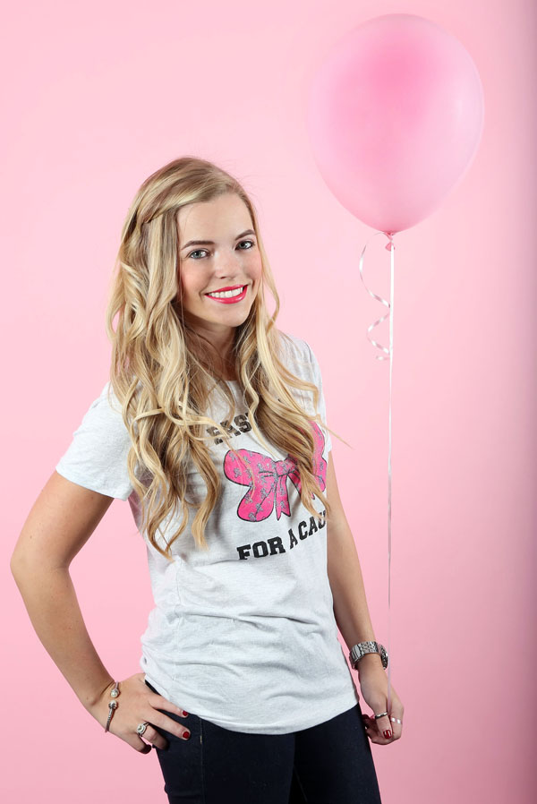 fashion for a cause with Kristin Clark, breast cancer awareness t-shirt