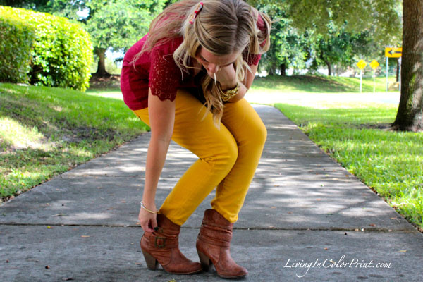 Mustard denim, Seminole Nation. Blogger Style. PART V blogger series