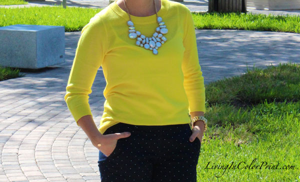 Polka Dots and citron on Living In Color Print, Kristin Clark blogger