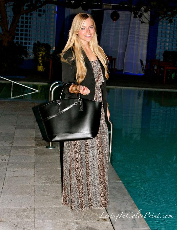 PoshParty Miami, Karen Kane Maxi dress