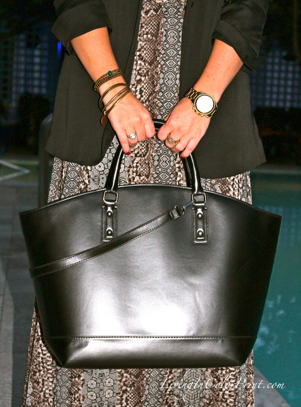 Zara black shopper tote, PoshParty Miami, Poshmark in Miami