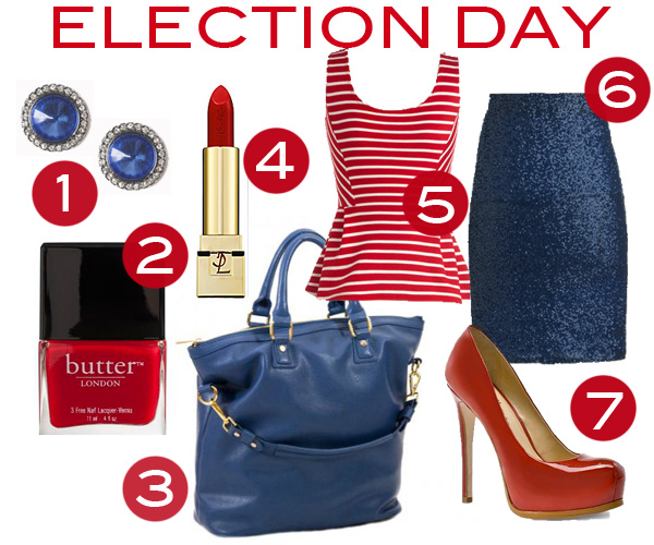 Trending Tuesday: Election Day Fashion, Patriotic fashion outfits, blue sequin skirt, Red white & blue fashion