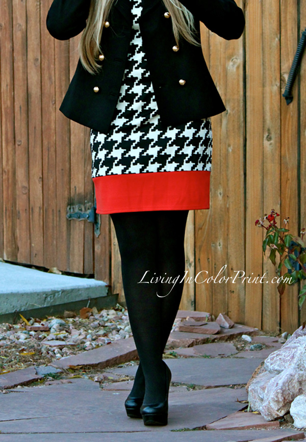 Shifty in Houndstooth, how to wear houndstooth, houndstooth for fall fashion