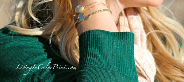 Polka Dot Skirt, Movember campaign, meriam meranfeld jewelry, hunter green sweater, emerald green sweater