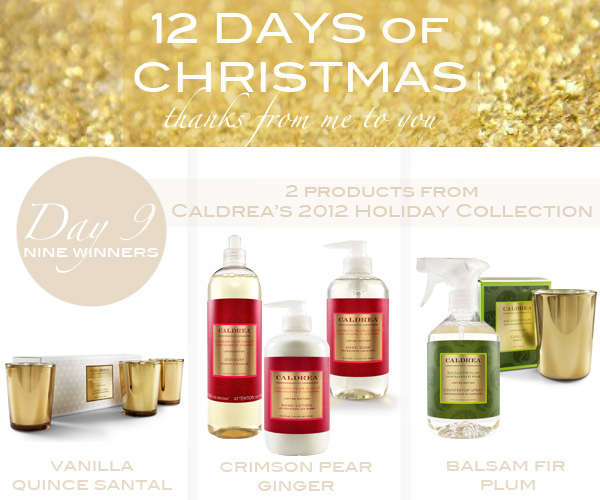 Caldrea Holiday 2012 Giveaway