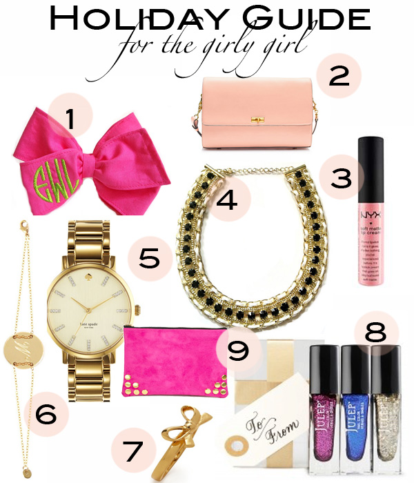 Holiday Guide for the Girly Girl, Holiday Guide 2012, What to Buy a Girly Girl, Sira & Mara, Miriam Merenfled, Julep, E. Olson Designs