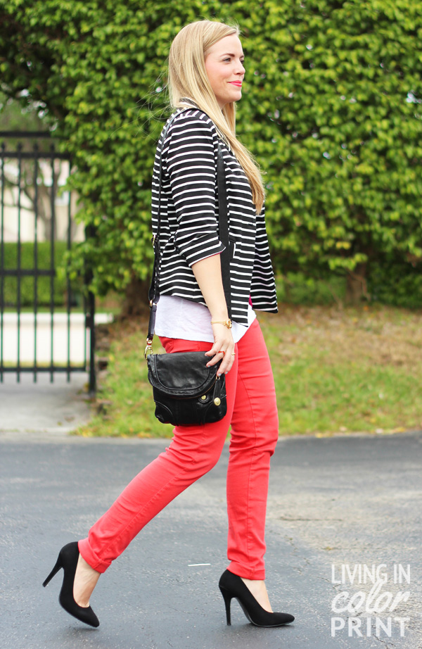 Coral + Stripes // Living In Color Print