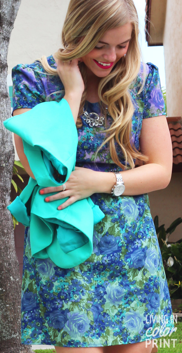 Floral + Turquoise // Living In Color Print