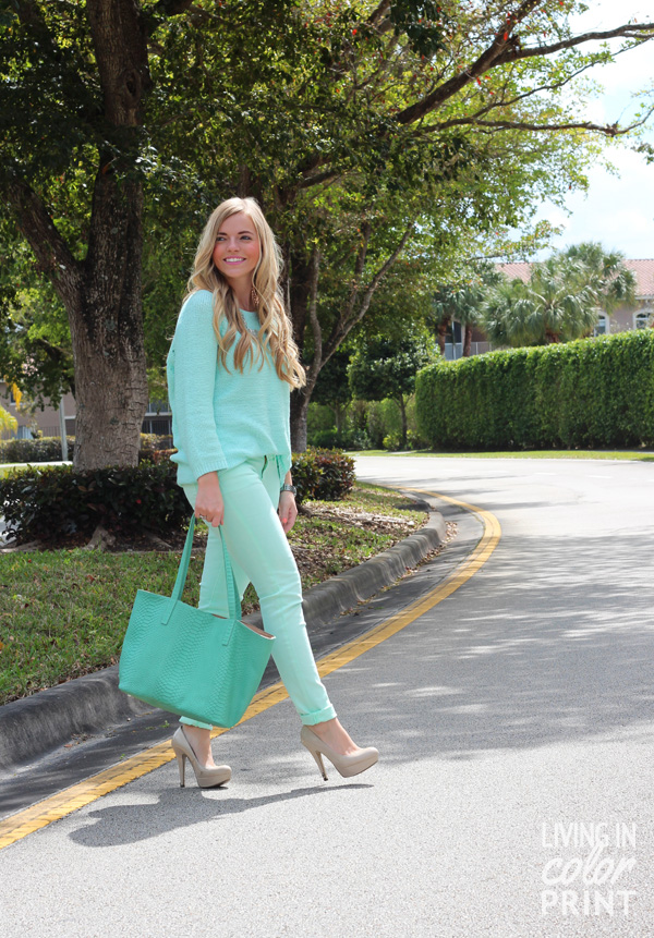 Monochromatic Mint // Living In Color Print