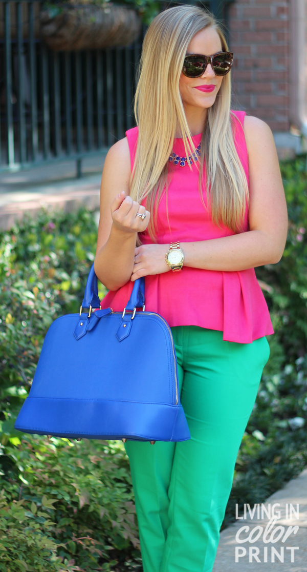 Bold Colorblock // Living In Color Print