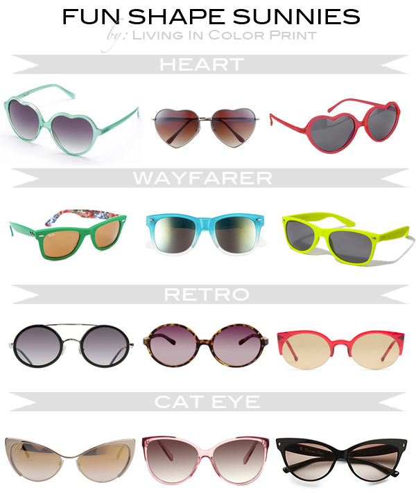 Fun Shape Sunnies // Living In Color Print