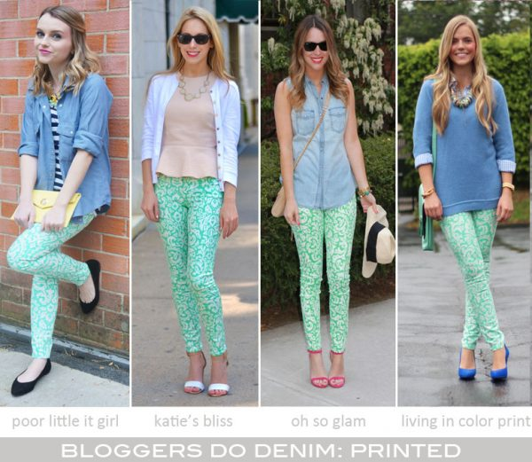 Bloggers Do Denim: Printed