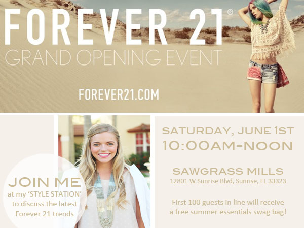 Living In Color Print x Forever 21 Grand Opening- Sawgrass Mills