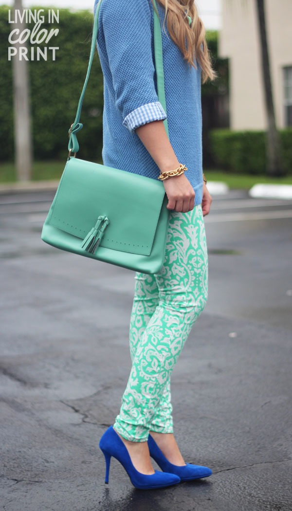 Styling Spring Denim: Printed // Living In Color Print