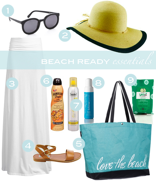 Beach Ready Essentials // Living In Color Print