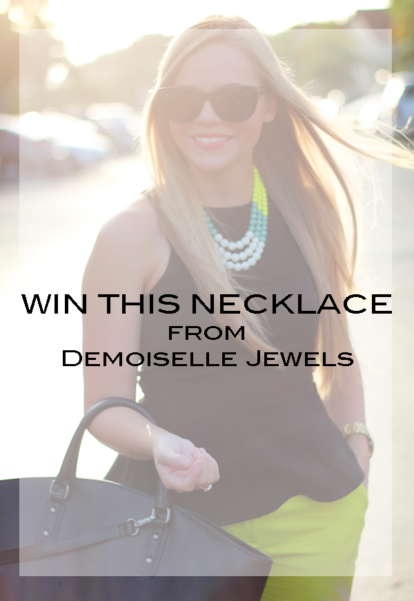 Demoiselle Necklace Giveaway // Living In Color Print