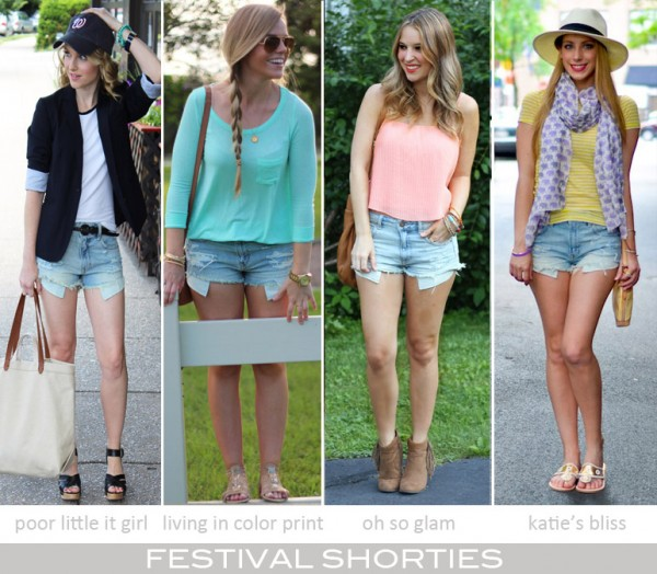 4 Ways to Style Festival Shorties