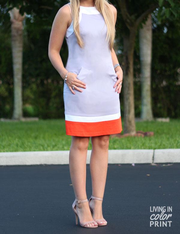 Lilac + Orange   Living In Color Print