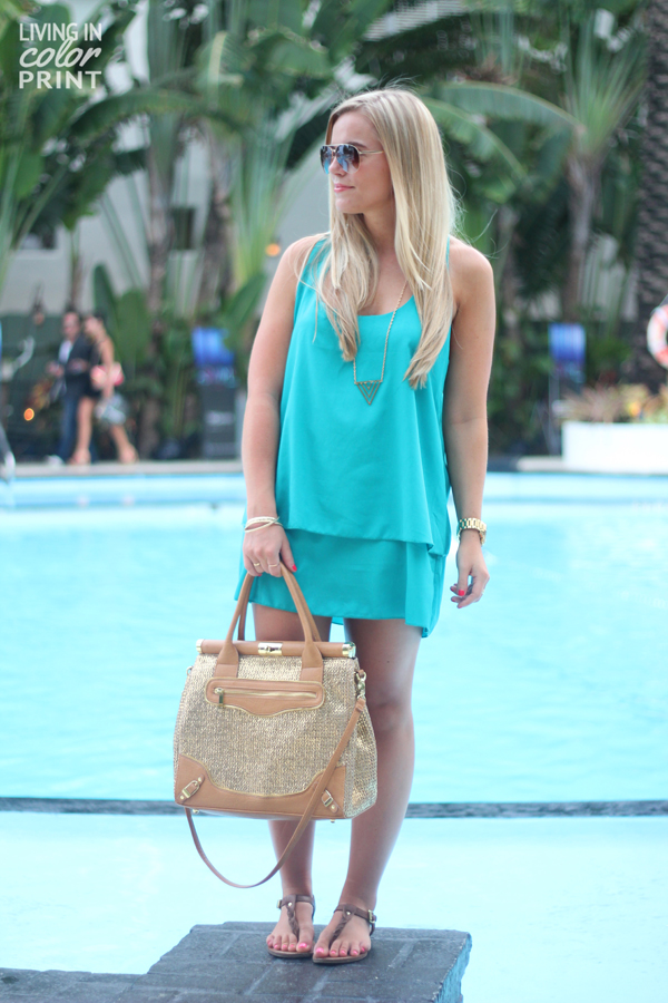 Teal by the Pool | Living In Color Print