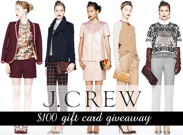 J Crew $100 gift card giveaway